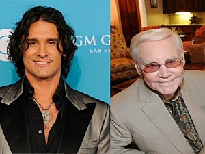 Joe Nichols (l), George Jones (r)