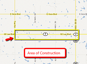 Map of Construction Zone