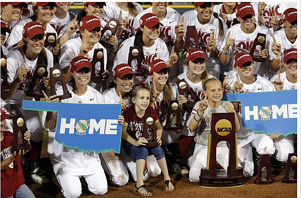Oklahoma University Women's Softball Team