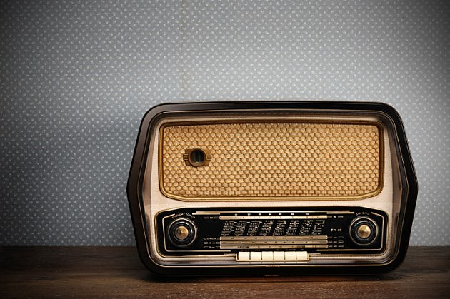 Old radio tuned into Classic Country