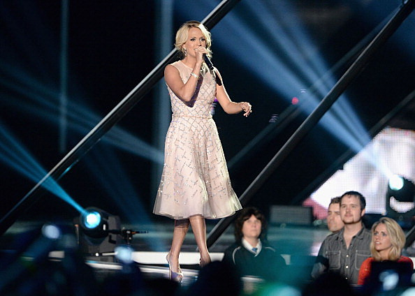 Carrie Underwood performing at CMT Music Awards