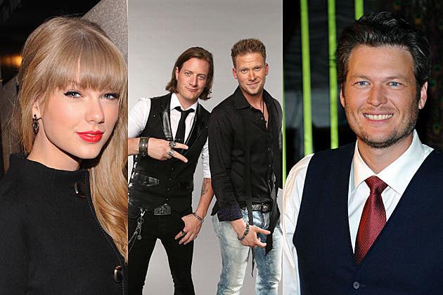 Taylor Swift, Florida Georgia Line and Blake Shelton