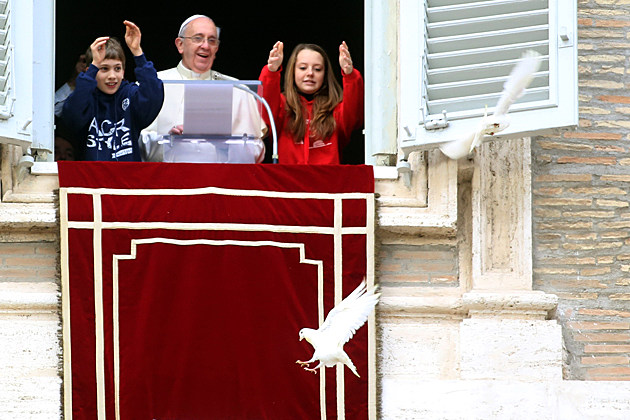 Pope Francis Delivers Angelus Blessing