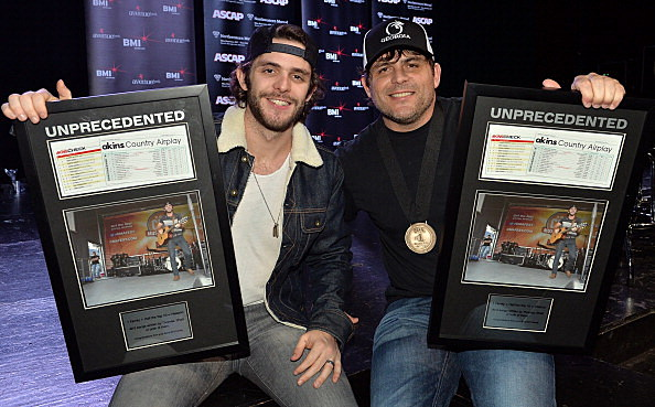 Thomas Rhett & Rhett Aiken celebrate #1