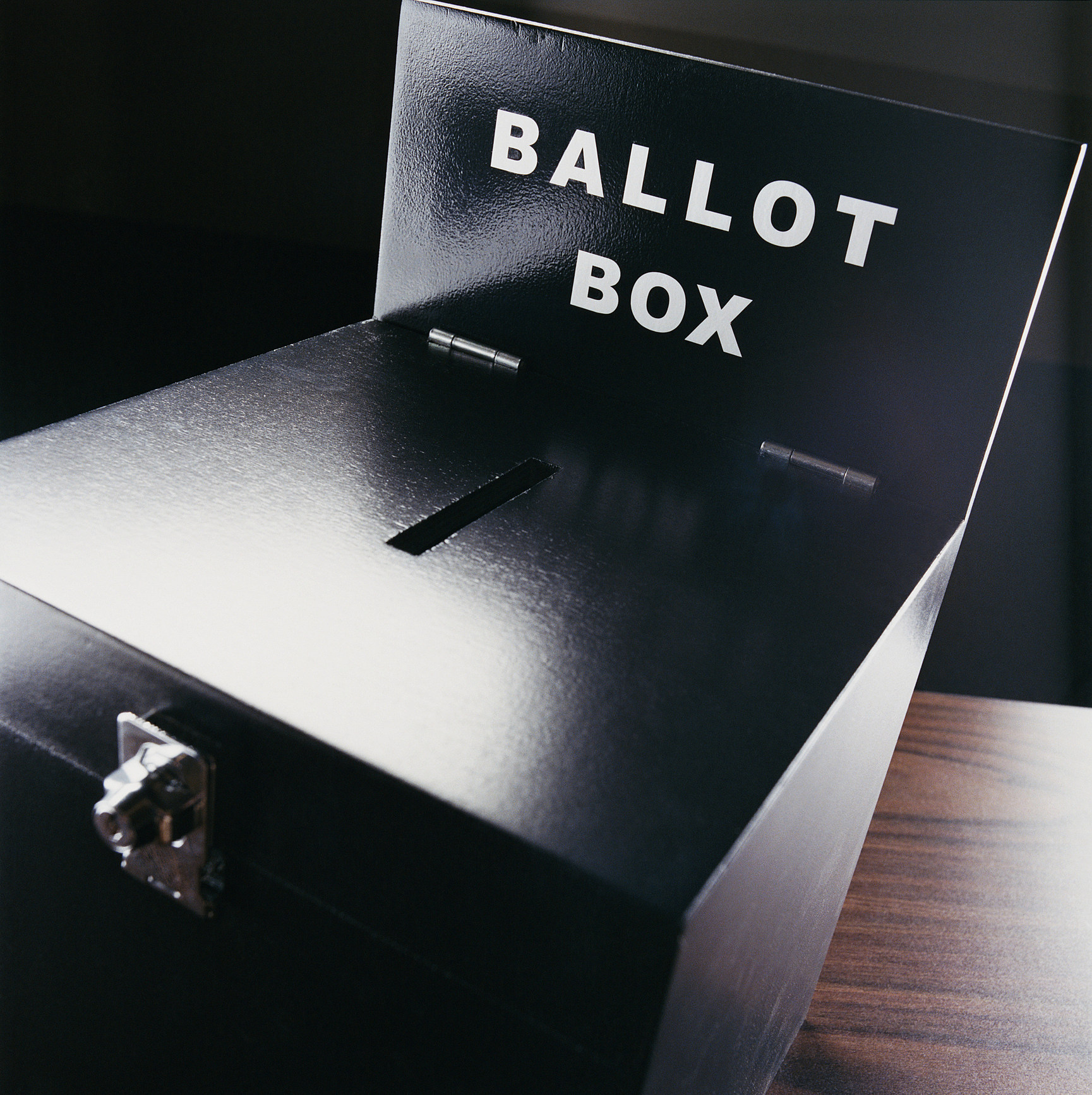 Studio Shot of a Ballot Box
