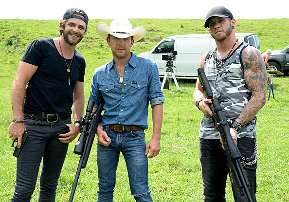 "Exclusive Photos From The Set Of Brantley Gilbert's ""Small Town Throwdown"" Video Shoot"