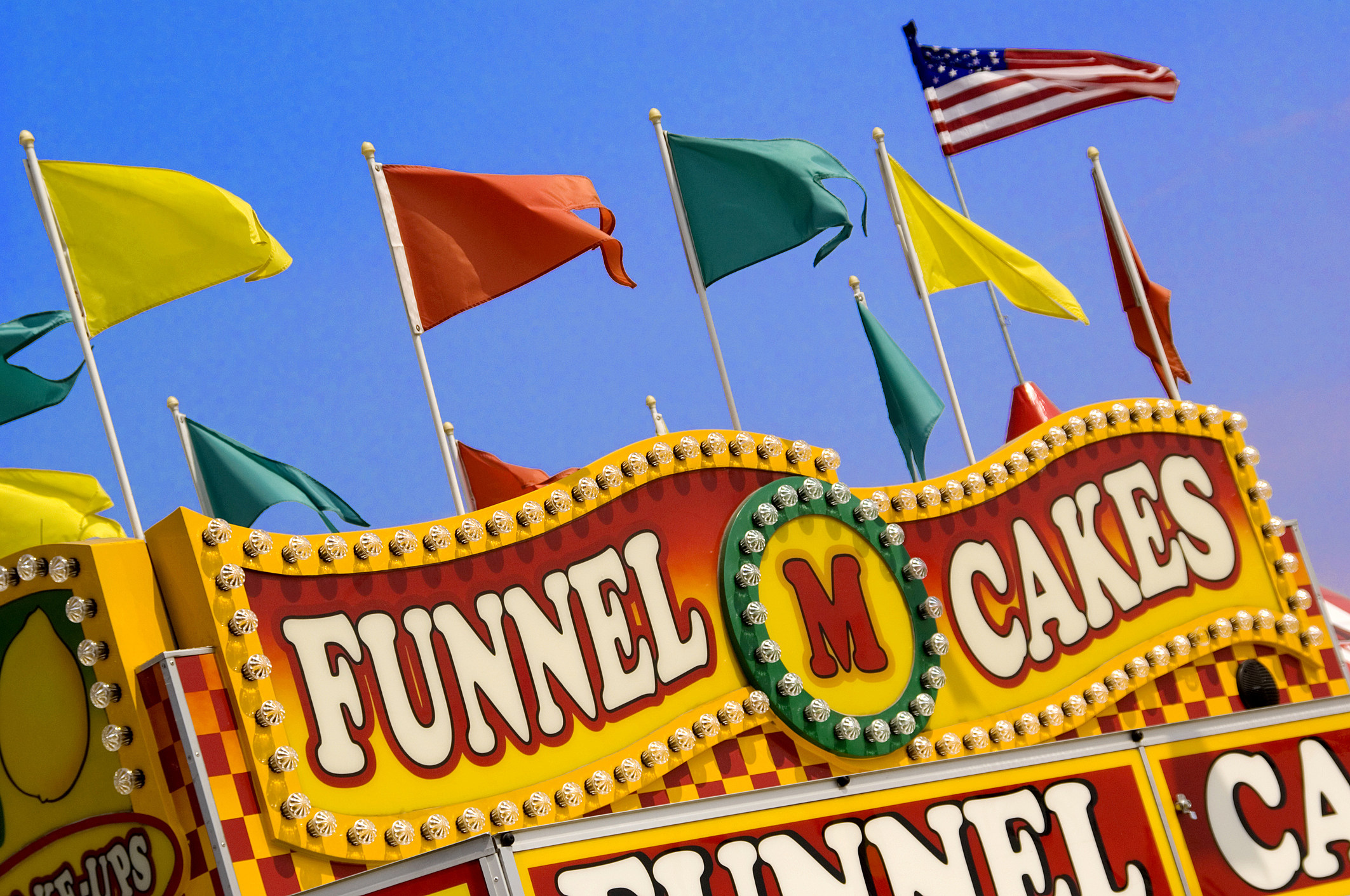 Carnival sign for funnel cake stand