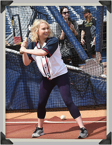 RaeLynn Joins The Nashville Sounds For Warm-Ups To Prep For The 2016 City Of Hope Softball Game at First Tennessee Park