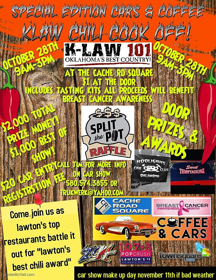 KLAW Chili Cook-off Coming To Cache Rd Square [AUDIO]